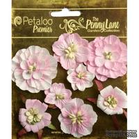 Набор объемных цветов Petaloo - Penny Lane Collection - Mixed Blossoms - Soft Pink