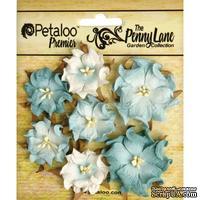 Набор объемных цветов (диких роз) Petaloo - Penny Lane Mini Wild Roses x7 - Robin's Egg Blue