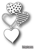 Нож для вырубки от Poppystamps - Heart Balloons