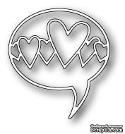 Нож для вырубки от Poppystamps - Heart Word Balloon