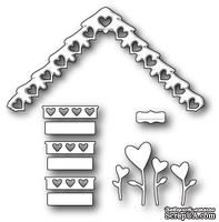 Нож для вырубки от Poppystamps - Love Cottage Roof and Decor