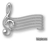 Нож для вырубки от Poppystamps -  DIES - Elegant Musical Staff