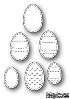 Нож для вырубки от Poppystamps - Stitched Egg Medley craft die