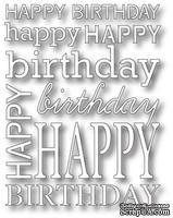 Нож для вырубки от Poppystamps - Happy Birthday Background