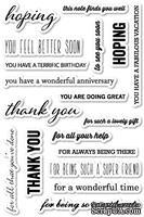 Резиновый штамп от Poppystamps -  Hope and Thanks