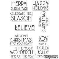 Штампы от Poppystamps - Art Deco Celebrate Christmas clear stamp set