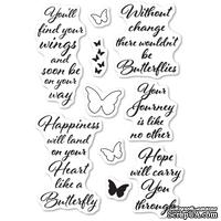 Штампы от Poppystamps - Butterfly Greetings clear stamp set