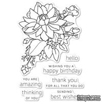 Штампы от Poppystamps - Peony Bouquet clear stamp set