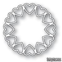 Нож для вырубки от Poppystamps - Fancy Heart Ring craft die