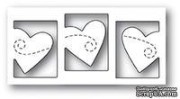 Нож для вырубки от Poppystamps -  Triple Heart Twirl craft die