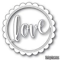 Нож для вырубки от Poppystamps - Love Stitch Circle Frame craft die