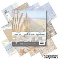 Набор двусторонней скрапбумаги от Paper House - Beach Paper Pad, 30,5x30,5 см, 12 шт