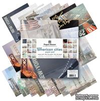 Набор двусторонней скрапбумаги от Paper House - Great American Cities Paper Pad, 30,5x30,5 см, 24 шт.
