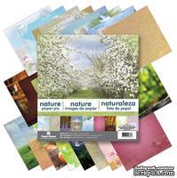 Набор двусторонней скрапбумаги от Paper House - Nature Paper Pad, 30,5x30,5 см, 24 шт