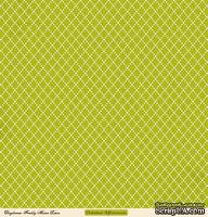 """Лист двусторонней скрапбумаги от October Afternoon - """"Daydream"""" Collection - Freshly Mown Lawn, 30х30"""