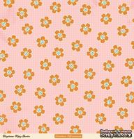 "Лист двусторонней скрапбумаги от October Afternoon - ""Daydream"" Collection - Poppy Garden, 30х30"
