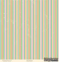 "Лист двусторонней скрапбумаги от October Afternoon - ""Ducks in a Row"" Collection - Sleep Tight, 30х30"
