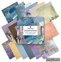 Набор односторонней скрапбумаги от Paper House - Impressions Paper Pad, 15,2x15,2 см, 36 шт