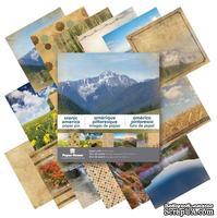 Набор односторонней скрапбумаги от Paper House - Scenic America Paper Pad, 20,3x20,3 см, 48 шт