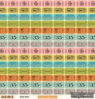 "Лист двусторонней скрапбумаги от October Afternoon - ""Midway"" Collection - Ticket Booth, 30х30"