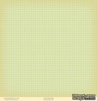 "Лист двусторонней скрапбумаги от October Afternoon - ""Fly a Kite"" Collection - Garden, 30х30"