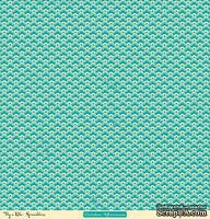 "Лист двусторонней скрапбумаги от October Afternoon - ""Fly a Kite"" Collection - Sprinklers, 30х30"
