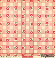 "Лист двусторонней скрапбумаги от October Afternoon - ""Modern Homemaker"" Collection - Needle & Thread, 30х30"