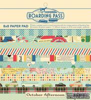 Набор бумаги October Afternoon - Boarding Pass, 20х20 см, 34 листа