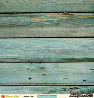 "Лист двусторонней скрапбумаги от October Afternoon - ""Farm Girl"" Collection - Wooden Crate, 30х30"