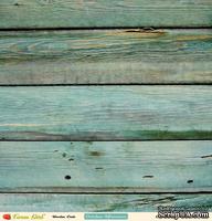 Лист двусторонней скрапбумаги от October Afternoon - Wooden Crate, 30х30 см