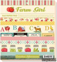 Набор бумаги October Afternoon - Farm Girl, 20х20 см, 24 листа