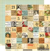 "Лист двусторонней скрапбумаги от October Afternoon - Farmhouse"" Collection - Attic Trunk, 30х30"