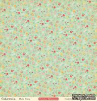 "Лист двусторонней скрапбумаги от October Afternoon - ""Cakewalk"" Collection - Hula Hoop, 30х30"