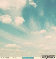 Лист двусторонней скрапбумаги от October Afternoon - Woodland Park Collection - Blue Sky, 30х30