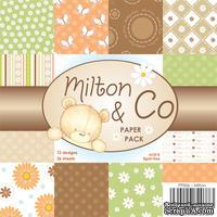 Набор односторонней бумаги от Wild Rose Studio - Milton - 15х15 см