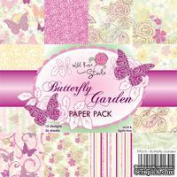 Набор односторонней бумаги от Wild Rose Studio - Butterfly garden - 15х15 см