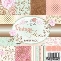 Набор бумаги от Wild Rose Studio - Vintage Rose - 15х15 см