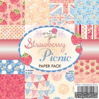 Набор односторонней бумаги от Wild Rose Studio - Strawberry Picnic - 15х15 см