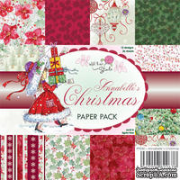 Набор односторонней бумаги от Wild Rose Studio - Xmas Annabell  - 15х15 см