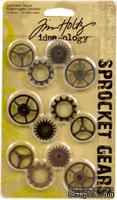 Набор металлических украшений от TimHoltz - Sprocket Gears