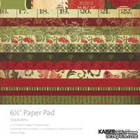 Набор скрапбумаги от Kaisercraft - Twig & Berry Paper Pad, 15х15, 40 листов