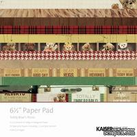 Набор скрапбумаги от Kaisercraft - TEDDY BEARS PAPR PAD, 15х15 см, 28 листов