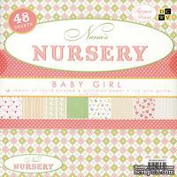 Набор бумаги DCWV - Nana's Nursery - Baby Girl Paper Stack, 30х30 см, 24 листа