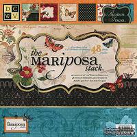Набор бумаги DCWV - Mariposa Paper Stack with Glitter & Foil, 30х30 см, 24 листа