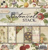 Набор бумаги DCWV -Botanicals Paper Stack, 30х30 см, 24 листа