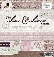 Набор бумаги DCWV -Lace & Linen Paper Stack, 30х30 см, 24 листа
