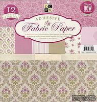 Набор ткани на клеевой основе DCWV - Pink Fabric Paper Stack, 30х30 см, 6 листов