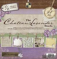 Набор бумаги DCWV -Chateau Lavender Paper Stack, 30х30 см, 24 листа
