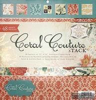 Набор бумаги DCWV -Coral Couture Paper Stack, 30х30 см, 24 листа