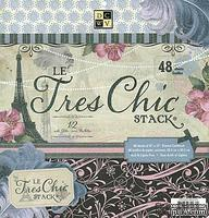Набор бумаги DCWV - Le Tres Chic Paper Stack, 30х30 см, 24 листа